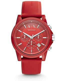Ax Active Silicone Strap Nylon Chronograph Watch