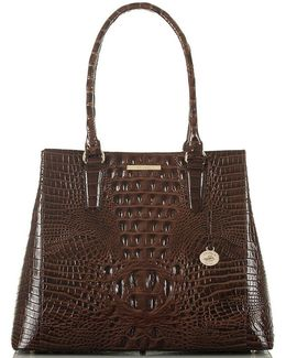 Melbourne Collection Joan Croco-embossed Tote