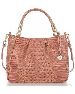 Melbourne Collection Ruby Croco-embossed Shoulder Bag