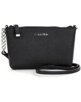 Saffiano Cross-body Bag With Chain
