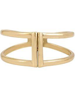 Two-row Hinge Bangle Bracelet