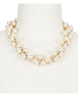 Faux-pearl Collar Necklace