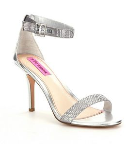 Jeweled Metallic Brodway Dress Sandals