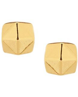 Faceted Ball Stud Earrings