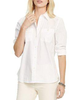 Long-sleeve Cotton Broadcloth Shirt