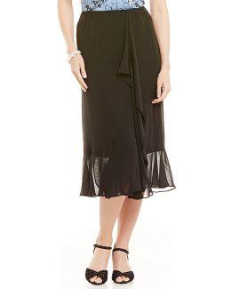 Ruffle-detail Chiffon Skirt