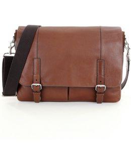 Graham Leather Laptop Messenger Bag