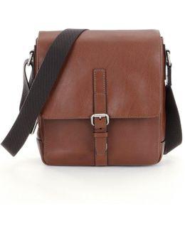 Davis Leather Small Tablet Messenger Bag