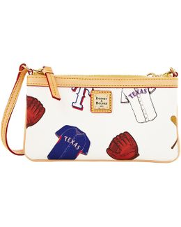 Mlb Collection Texas Rangers Large Slim Wristlet