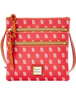 Mlb Collection St Louis Cardinals Triple Zip Cross-body Bag