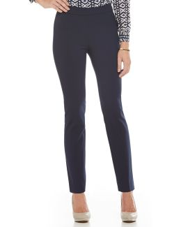 Audrey Side Zip Tapered Straight-leg Pants