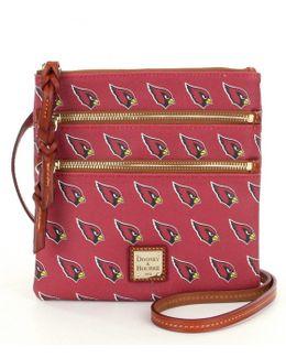 Nfl Collection Arizona Cardinals Triple-zip Cross-body Bag