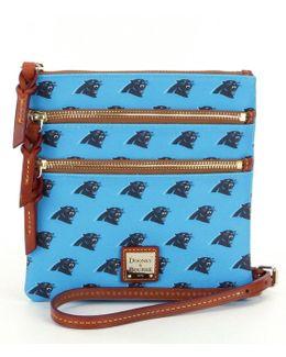 Nfl Collection Carolina Panthers Triple-zip Cross-body Bag