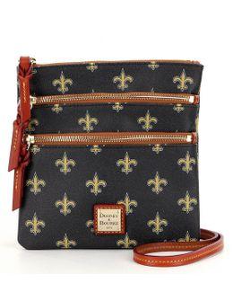 Nfl Collection New Orleans Saints Triple-zip Cross-body Bag