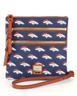 Nfl Collection Denver Broncos Triple-zip Cross-body Bag
