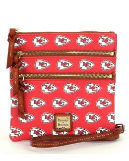 Nfl Collection Kansas City Chiefs Triple-zip Cross-body Bag