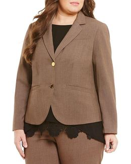 Plus 2 Button Luxe Notch Collar Jacket