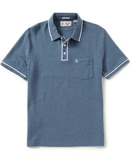 Earl Short-sleeve Solid Polo Shirt