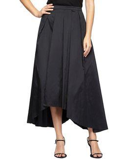 Tea-length Taffeta Hi-low Ball Skirt