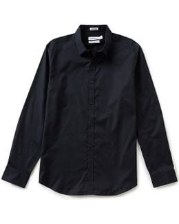 Cool Tech Oxford Long-sleeve Solid Woven Shirt