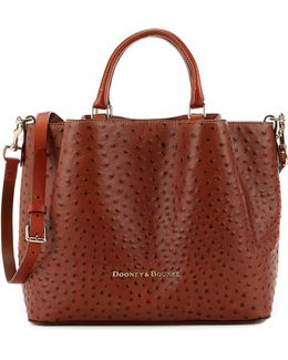 Ostrich Collection Large Barlow Satchel