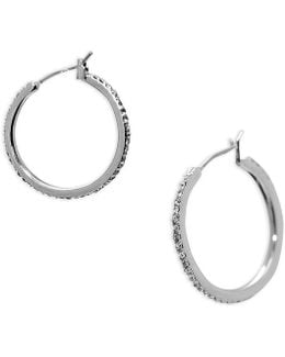 Pavé Hoop Earrings