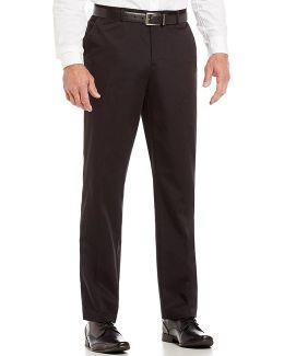 Slim-fit Flat-front Twill Pants