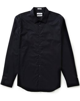 Slim-fit Cool Tech Chambray Long-sleeve Woven Shirt