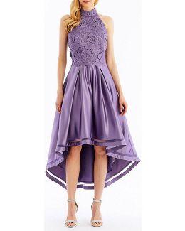 Floral-patterned Hi-lo Dress
