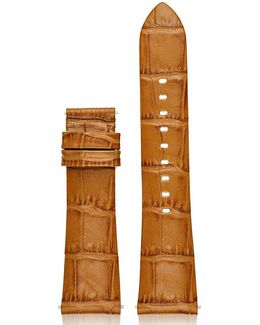 Access Bradshaw Crocodile-embossed Leather Strap