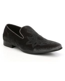 Mens Lorax Velvet Detailed Slip-on Slippers