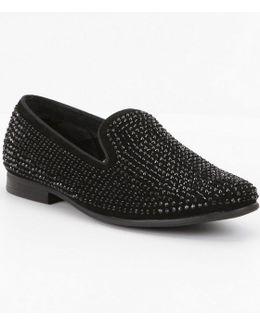 Men ́s Caviarr Crystal Embellishment Slip On Loafer