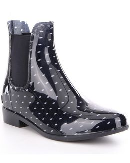 Tally Waterproof Rubber Pull-on Rain Booties