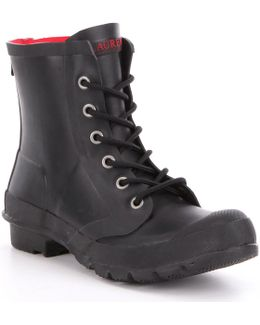 Mikenna Rubber Lace-up Rain Booties