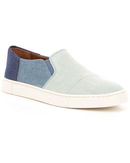 Gemma Cap Denim Color Blocked Slip-on Sneakers