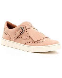 Gemma Kiltie Perforated Nubuck Slip-on Sneakers