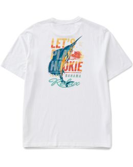 Big & Tall Let ́s Play Hookie Graphic Tee
