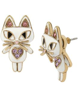 Cat Front/back Earrings
