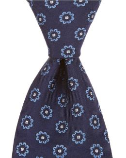 Spaced Floral Traditional Silk Tie