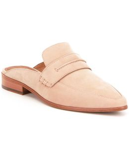 Ellie Oiled Nubuck Open Back Slip-on Dress Mules