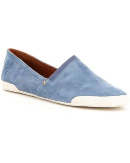 Melanie Suede A-line Vulcanized Slip-on Sneakers