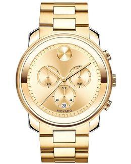 Large Chronograph Bracelet Watch