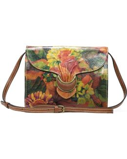 Heritage Print Collection Van Sannio Floral Buckled Cross-body Bag
