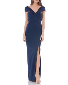 Stretch Gown With Ring Detail