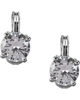 Sparkling Ears Cubic Zirconia Stud Clip-on Earrings