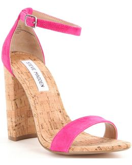 Carson Ankle Strap Cork Dress Sandals