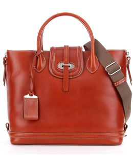 Florentine Leather Side Zip Tote