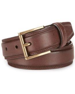 Tyler Pressed Edge Leather Belt