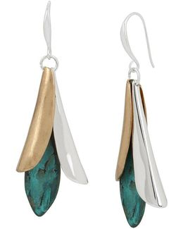 Sculptural Petal Drop Earrings