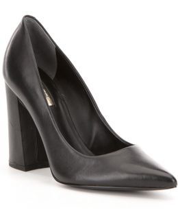 Bocca2 Leather Block Heel Dress Pumps